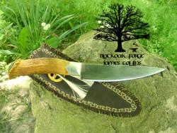 Medicine Wheel Frontier Knife by James Collins Blackoak Forge