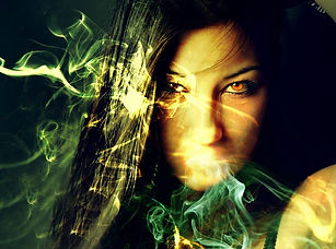 magickal studes - photo of woman with energy around her