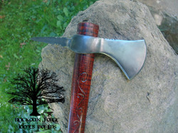 Spikepoint Tomahawk (carved hilt) by james Collins Blackoak Forge