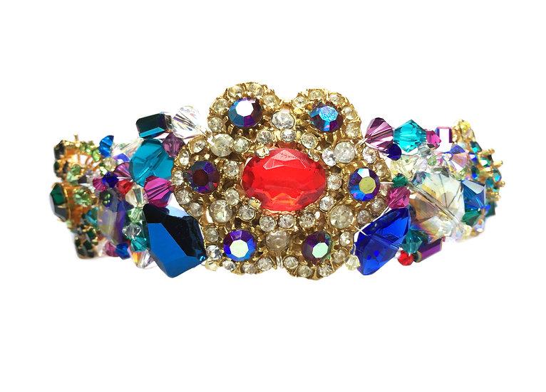 Frida Vintage Cluster Rainbow Tiara
