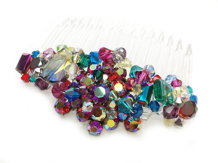 Frida Rainbow Comb- Multicoloured Bridal Hair Comb