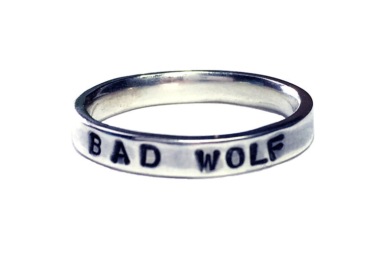 BAD WOLF Sterling Silver Unisex Ring