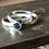 Thumbnail: Slim Silver ring with 4mm Stone- Hammered or Smooth