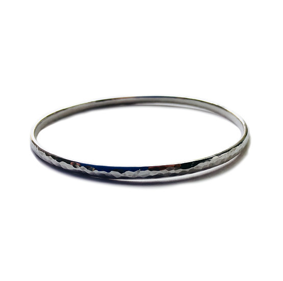 Hammered Sterling Silver Bangle 3.5mm wide