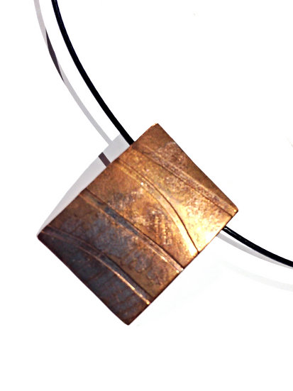 Medium Copper Lines Pendant