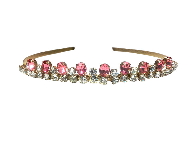 Rose Pink and Gold  Vintage Coronet Band