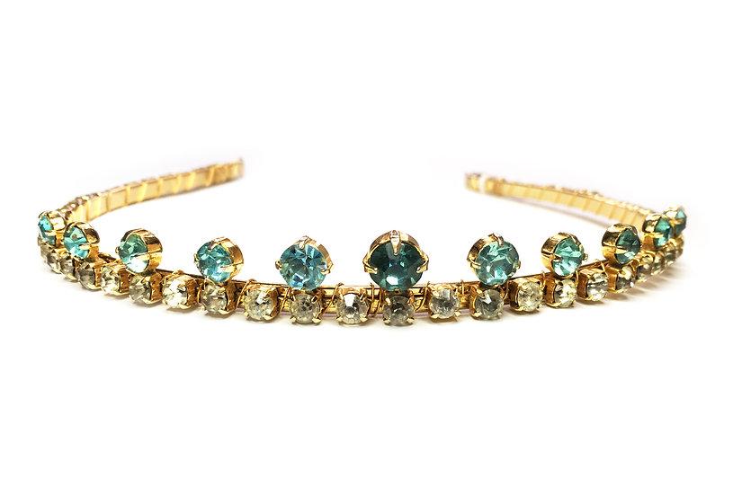 Gold and Aqua Coronet Headband