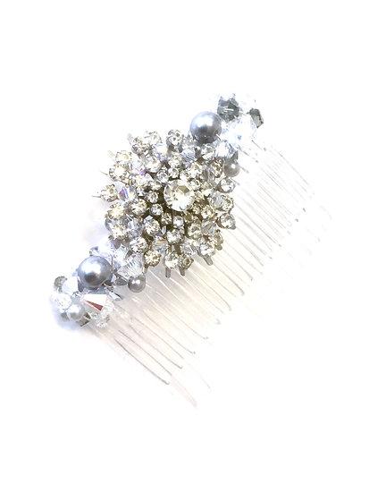 Vintage Brooch Crystal Comb
