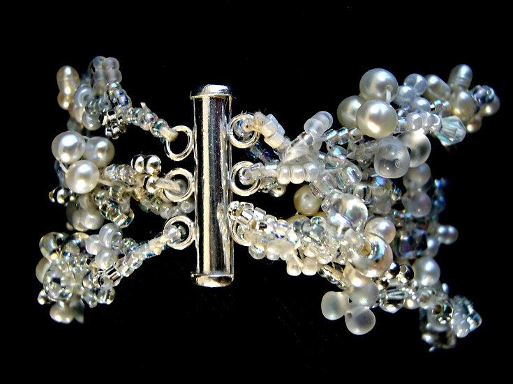 Triple Flora Bracelet Cuff