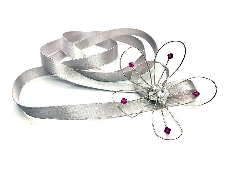 Crystal Flower Girl Ribbon Soft Headband