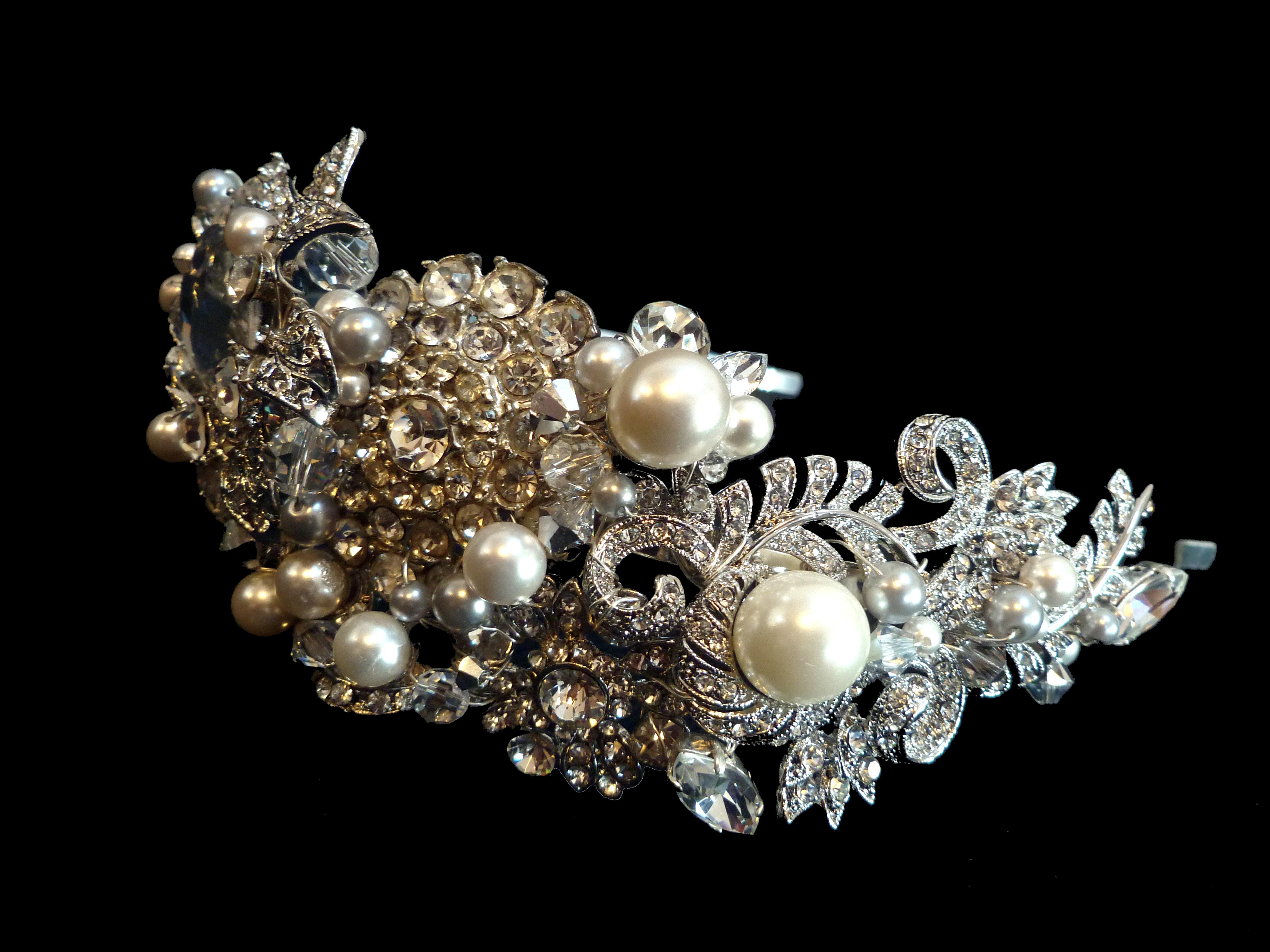vintage cluster headband