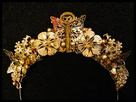 Golden nature crown