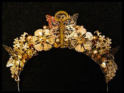 Golden nature crown