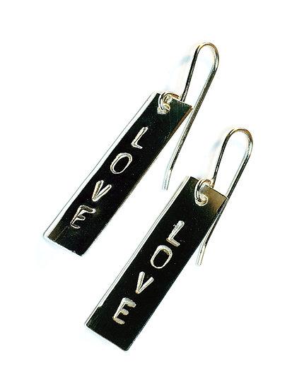 Love TEXT earrings