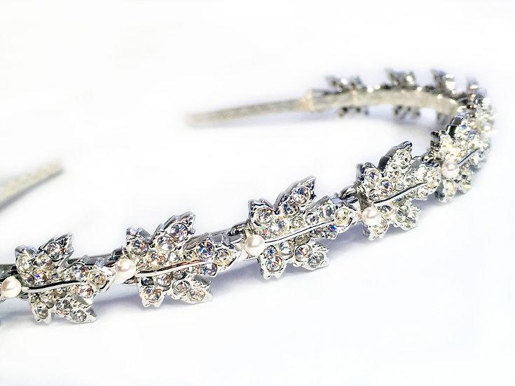 Vintage Silver Vine Leaf Headband