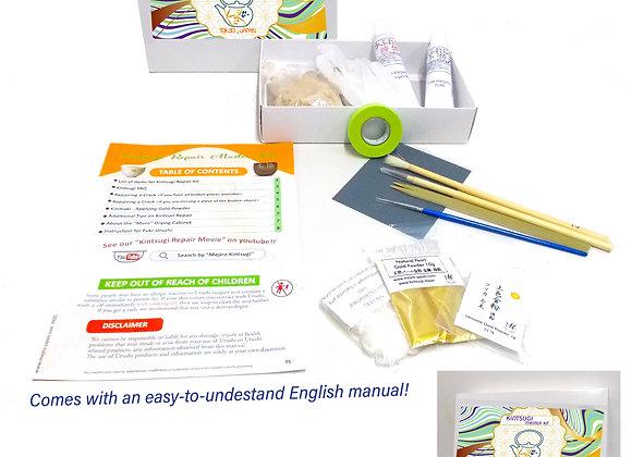 Kintsugi Repair Master Kit with Genuine Gold Powder
