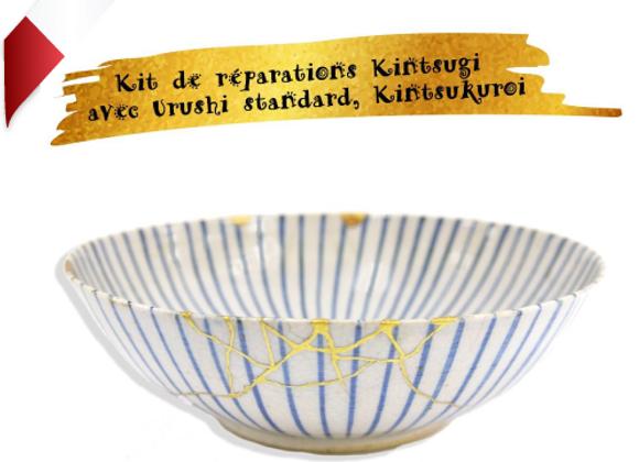 Kit de réparations Kintsugi et manuel d'instructions en Français, Kintsukuroi
