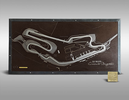 Gravure d'Art Circuit Bugatti