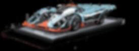 Sculpture 917, gravure d'art acier CHAT NOIR, fait main, série limitée et numérotée, Porsche