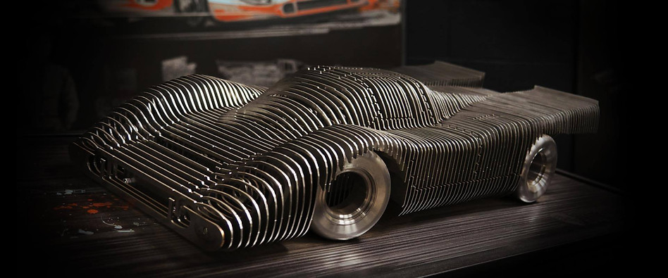 Sculpture Porsche 917