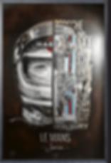 Jacky ICKX, gravure d'art acier CHAT NOIR, fait main, série limitée et numérotée, Porsche, 24h du Mans