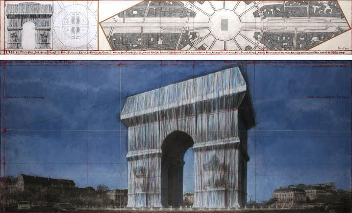 'L'Arc de Triomphe, Wrapped'