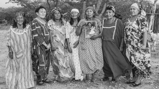 Familia de Diana Fince. Portete, Guajira.