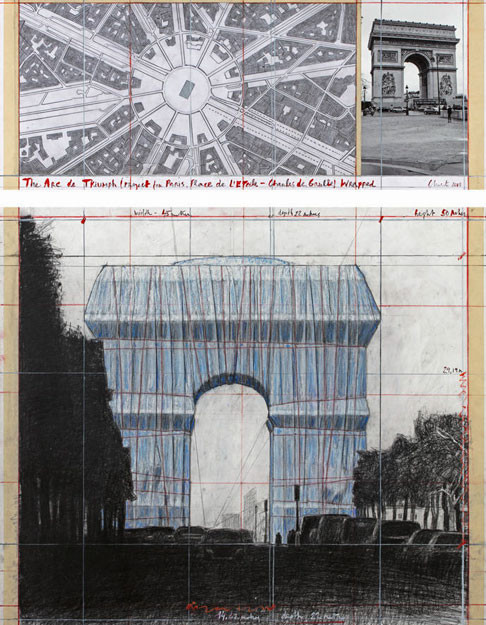 'L'Arc de Triomphe, Wrapped'