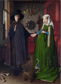 El matrimonio Arnolfini (Jan Van Eyck, 1434). Wikimedia Commons / National Gallery