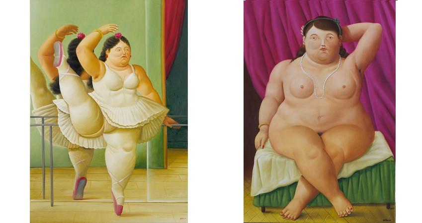 Bailarina en la barra y Mujer sentada