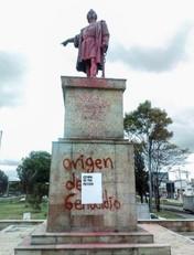 Abel Azcona. 'España os pide perdón'