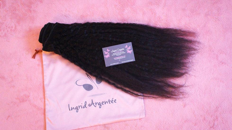 Tissage clips afro étirés Remy Hair