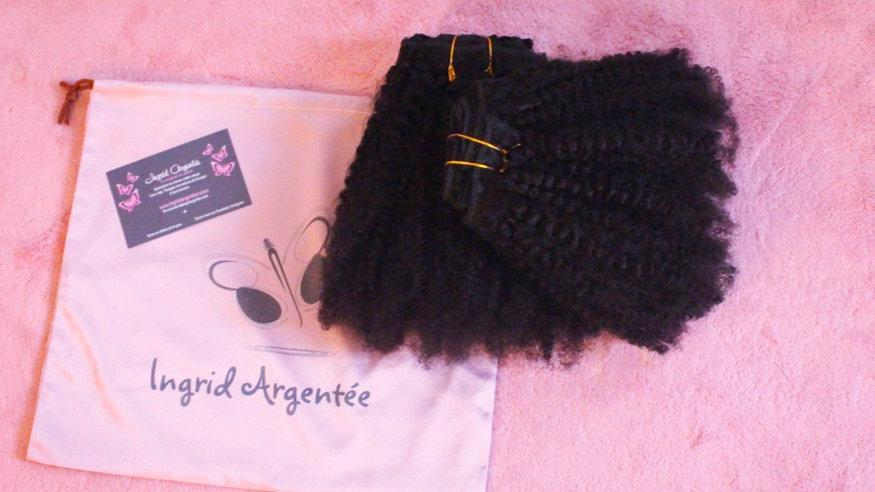 Lot de 2 Tissages clips crépu 4B-4C Remy Hair