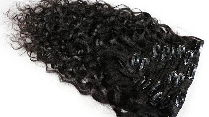 Tissage clips bouclé 3A-3B Remy Hair