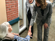 Congresswoman Cindy Axne tours Caring Acres Nursing and Rehab Center