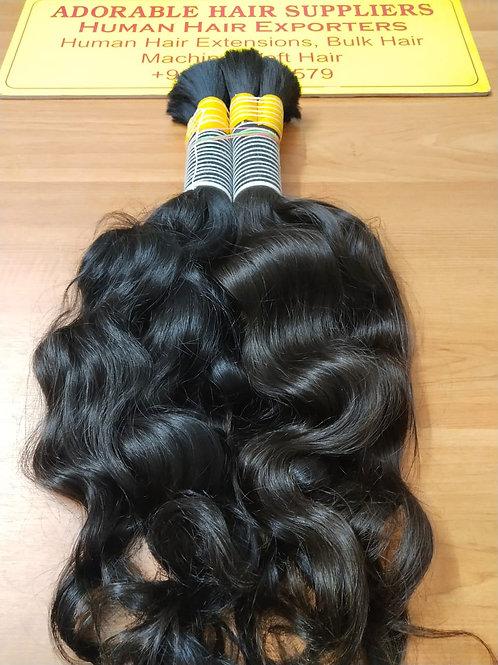 Bulk Hair for Braiding Wavy(100 gram(3.5 oz)