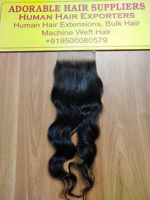 "4"" X 4"" Raw Indian closure Wavy Hair"