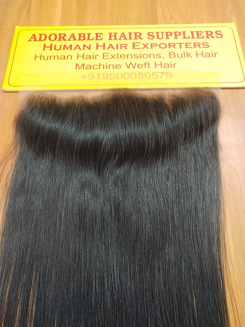 """13"""" X 4"""" Raw Indian Frontal Straight Hair"""