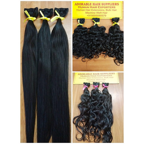 "10"" TO 18"" INCH BUNDLE DEAL SOUTH INDIAN RAW HAIR - 10 BUNDLES"