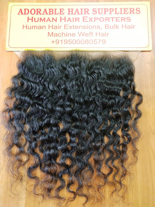 100% Raw Indian hair Frontal Natural Curly (13x4)