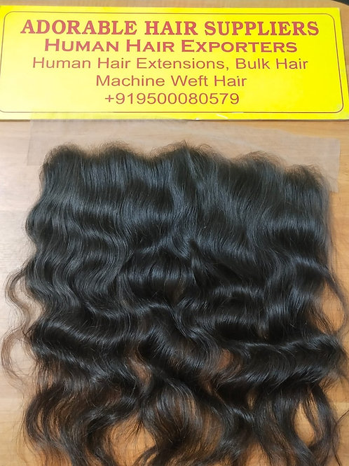 "13"" X 4"" Raw Indian Frontal Wavy Hair"