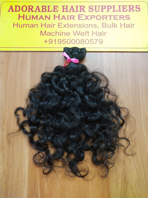 100% Raw Authentic Unprocessed Indian hair Curly/Deep wavy(100 gram (3.5 oz)