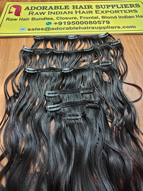 CLIP-IN HAIR EXTENSIONS- Raw South Indian