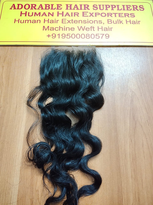 "5""x5"" Closure Raw Indian Wavy Hair"