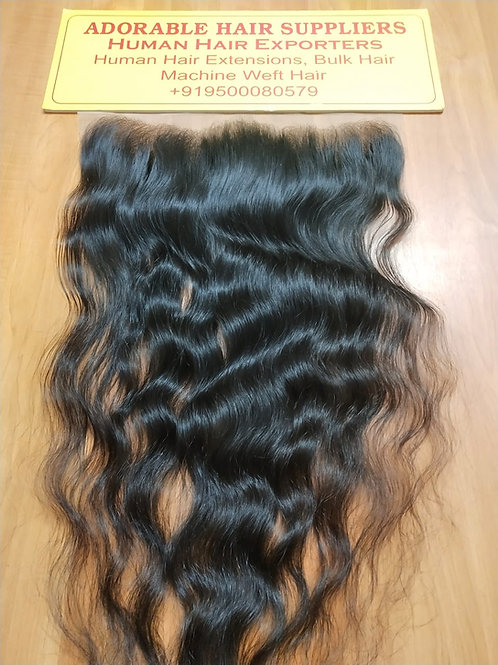 "13"" X 6"" Raw Indian Frontal Wavy Hair"