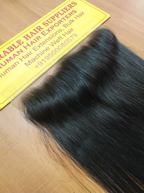 "13"" X 6"" Raw Indian Frontal Straight Hair"