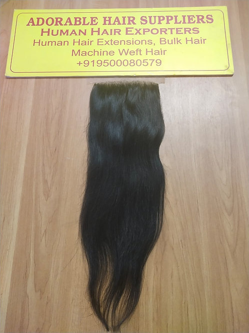 5x5 Closure Raw Indian Straight Hair
