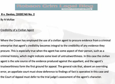 R v Devloo - a case brief