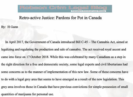 Retro-active Justice: Pardons for Pot in Canada