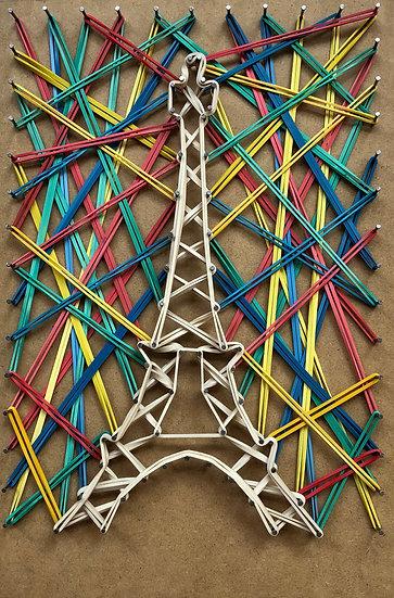 Tour Eiffel (con cielo), Parigi, Francia 🇫🇷